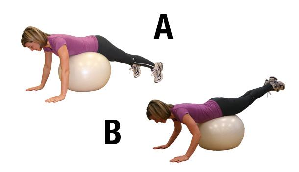Exercices pour fessiers - extension à la hanche