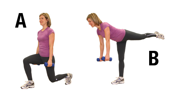 Buttocks exercises - lunge