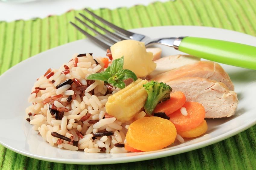 Chicken rice and veggies_iStock_000020587084Small
