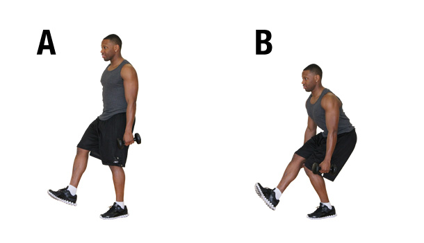 Build your legs- one-leg squat