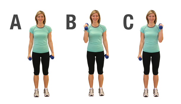 exercices avec des poids pour femme