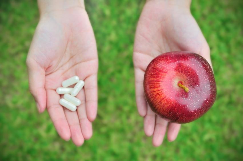 Pills or apple_iStock_000020465851Small