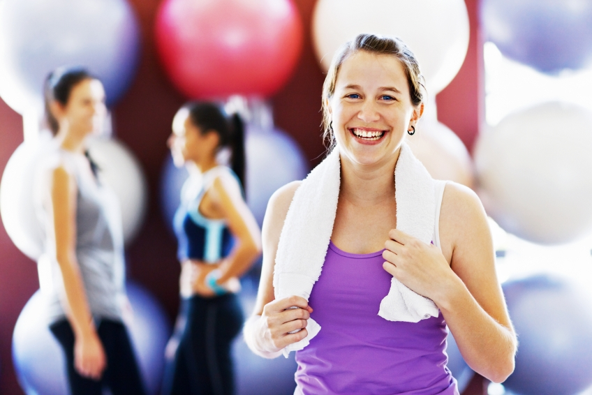 Woman after group class_iStock_000019768084Small