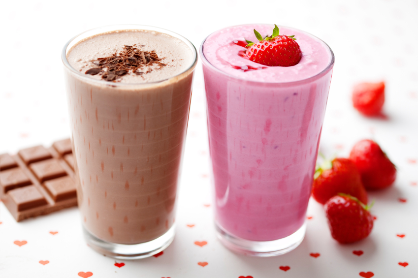 Chocolate And Strawberry Shake