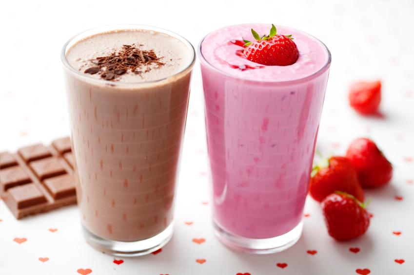 chocolate and strawberry shake