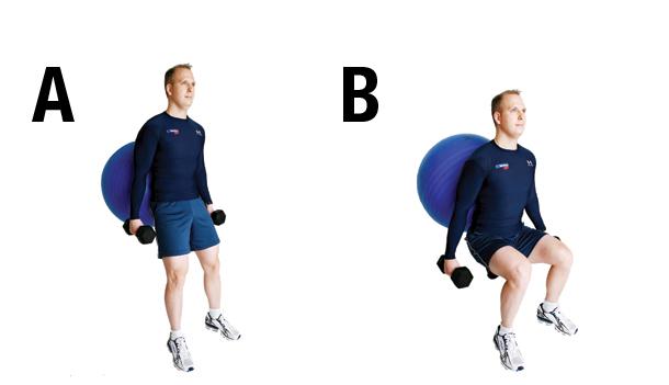 Exercice 1 Squat au mur