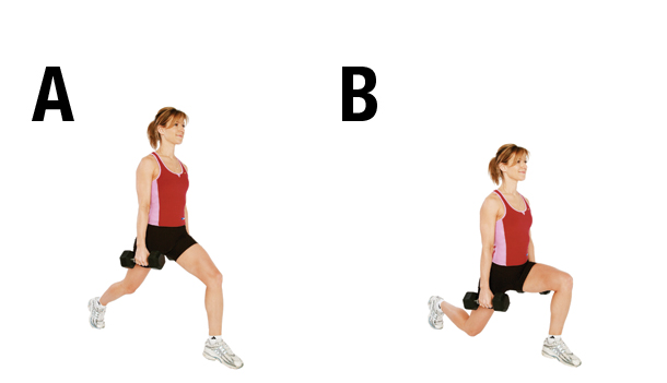 Exercice 2 Fentes avant avec poids