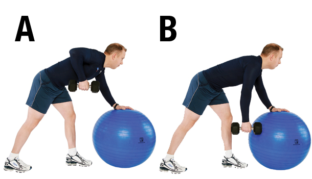 Exercice 3 Traction unilaterale appui ballon