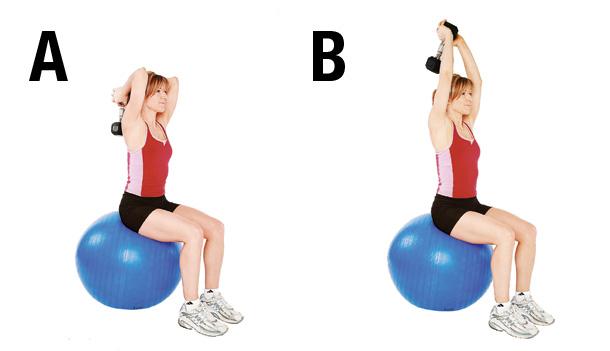 Exercice 6 Extension des bras sur ballon