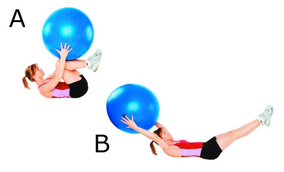 Etirement des jambes avec ballon