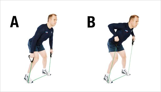 Traction verticale des bras tronc incline