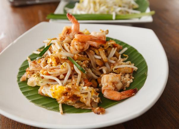Chicken and Shrimp Pad Thai