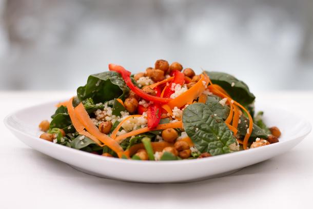 salade poids chiche croustillant