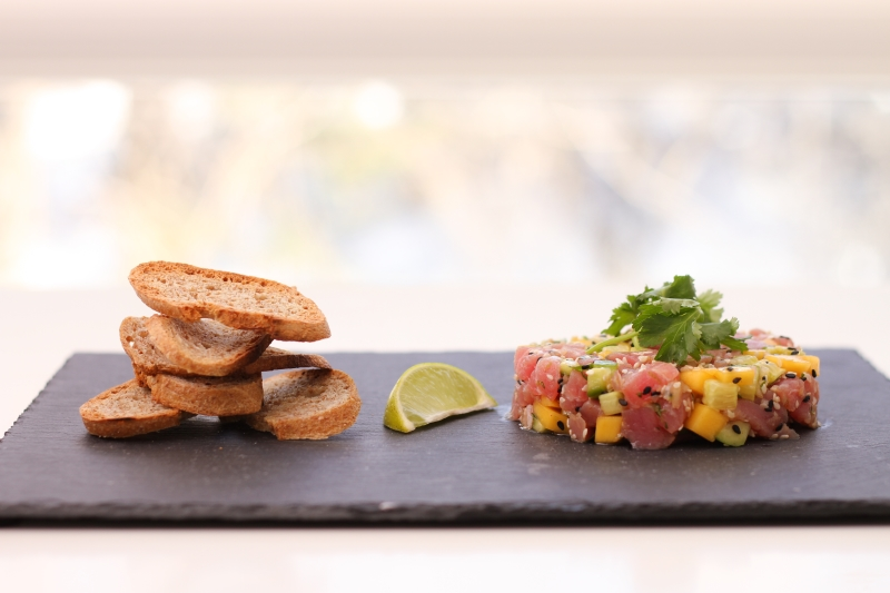 Tuna Tartare with Mango & Lime