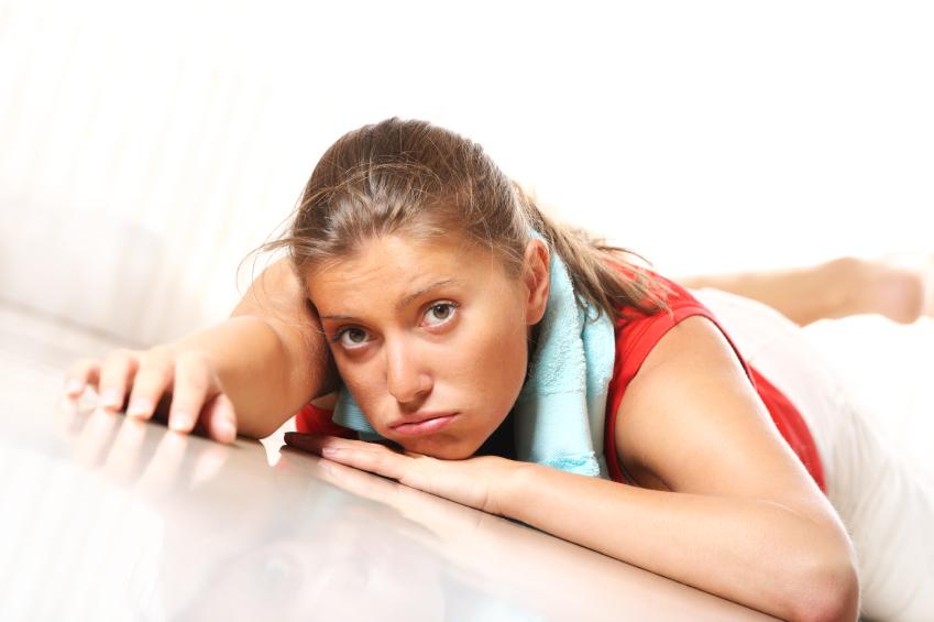 Exhausted girl