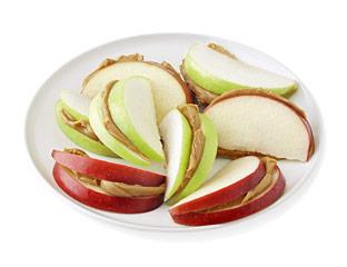 Pomme et beurre d'arachide