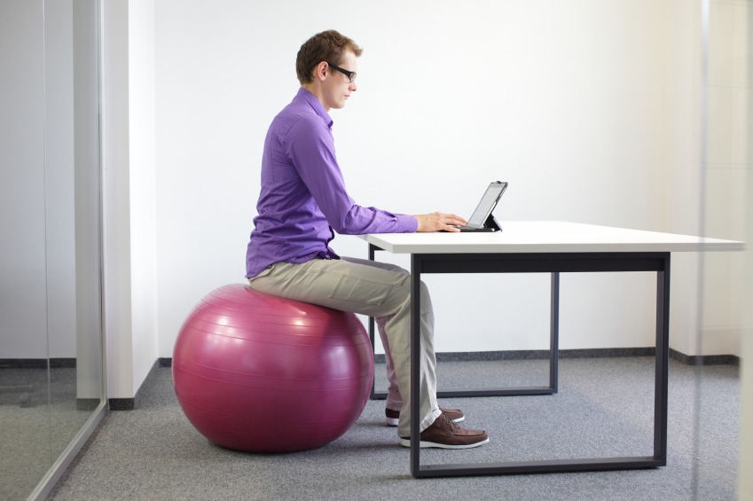 Swiss Ball sitting position