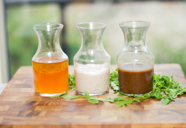 Trois vinaigrettes santé pour vos salades