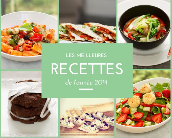 Les meilleures recettes de 2014