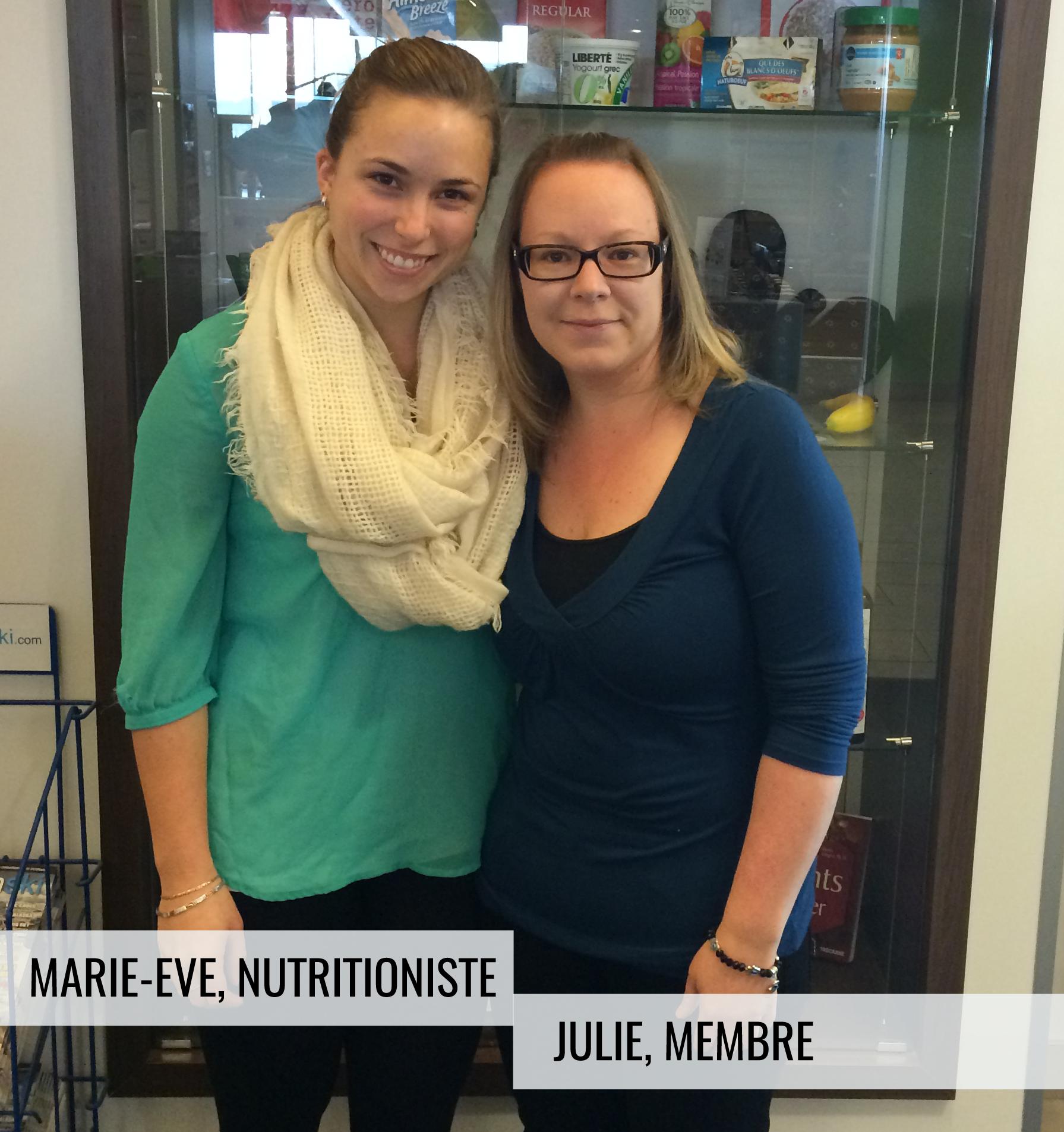 Julie Faucher et nutritionniste