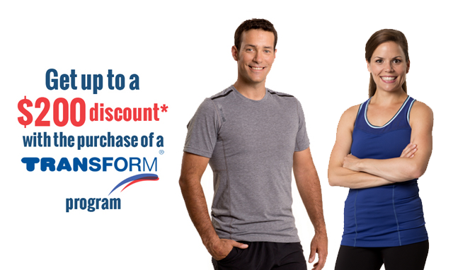 Get up to a $200 discount on a Transform program