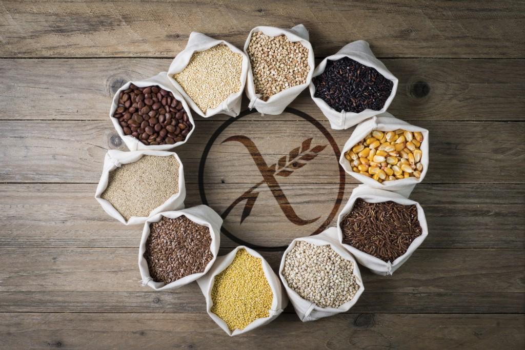cereali senza glutine con logo gluten free