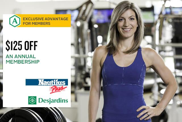 $125 discount on an annual membership for Desjardins members