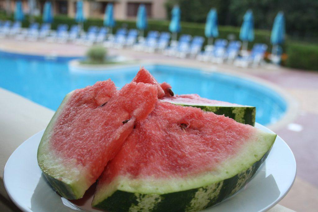 Plat de melon d'eau