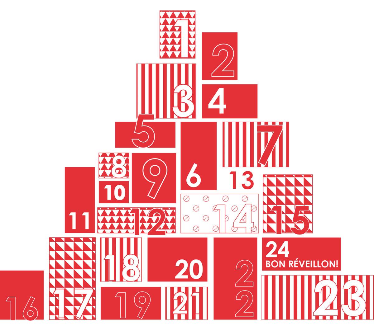 Image de 24 cadeau empilés