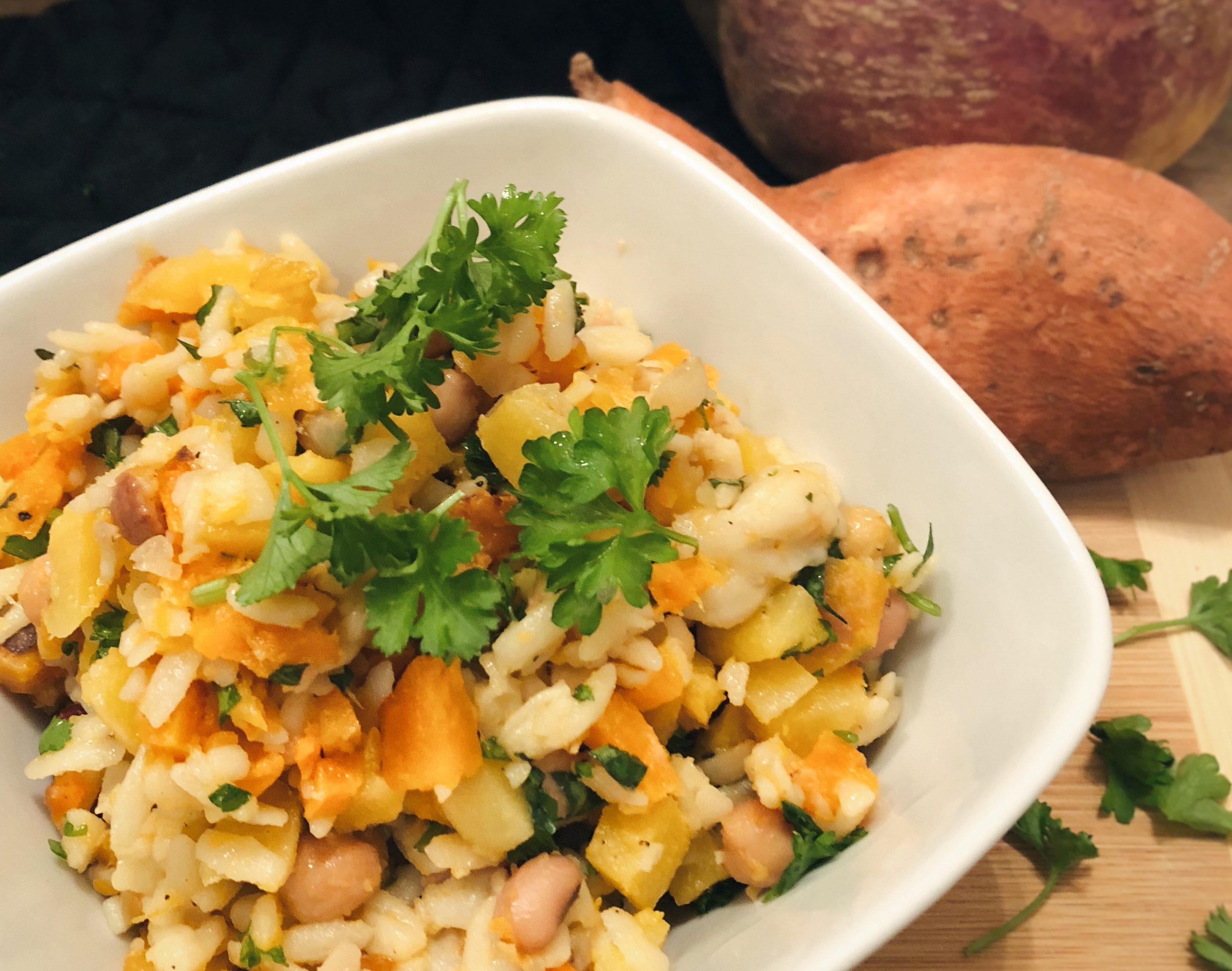 Salade chaude d'orzo aux légumes d'hiver