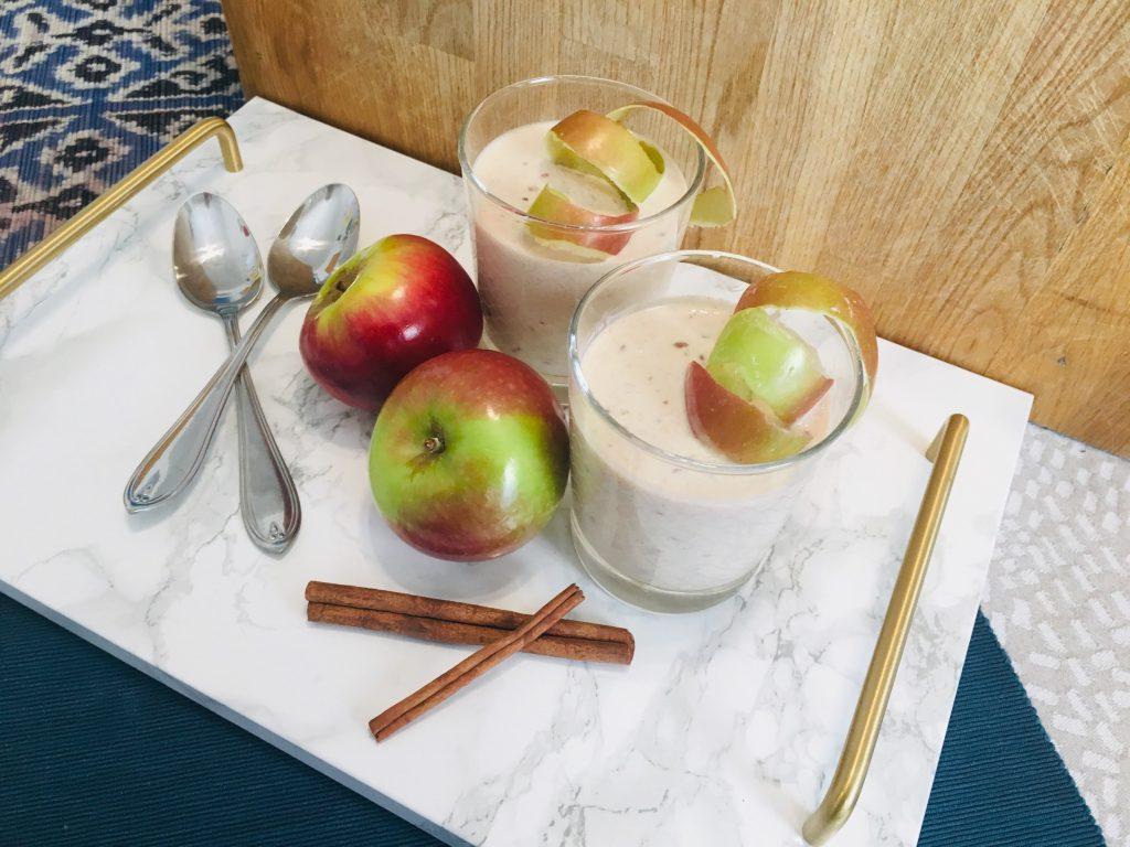 Dessert santé - Smoothie dessert aux pommes et cannelle