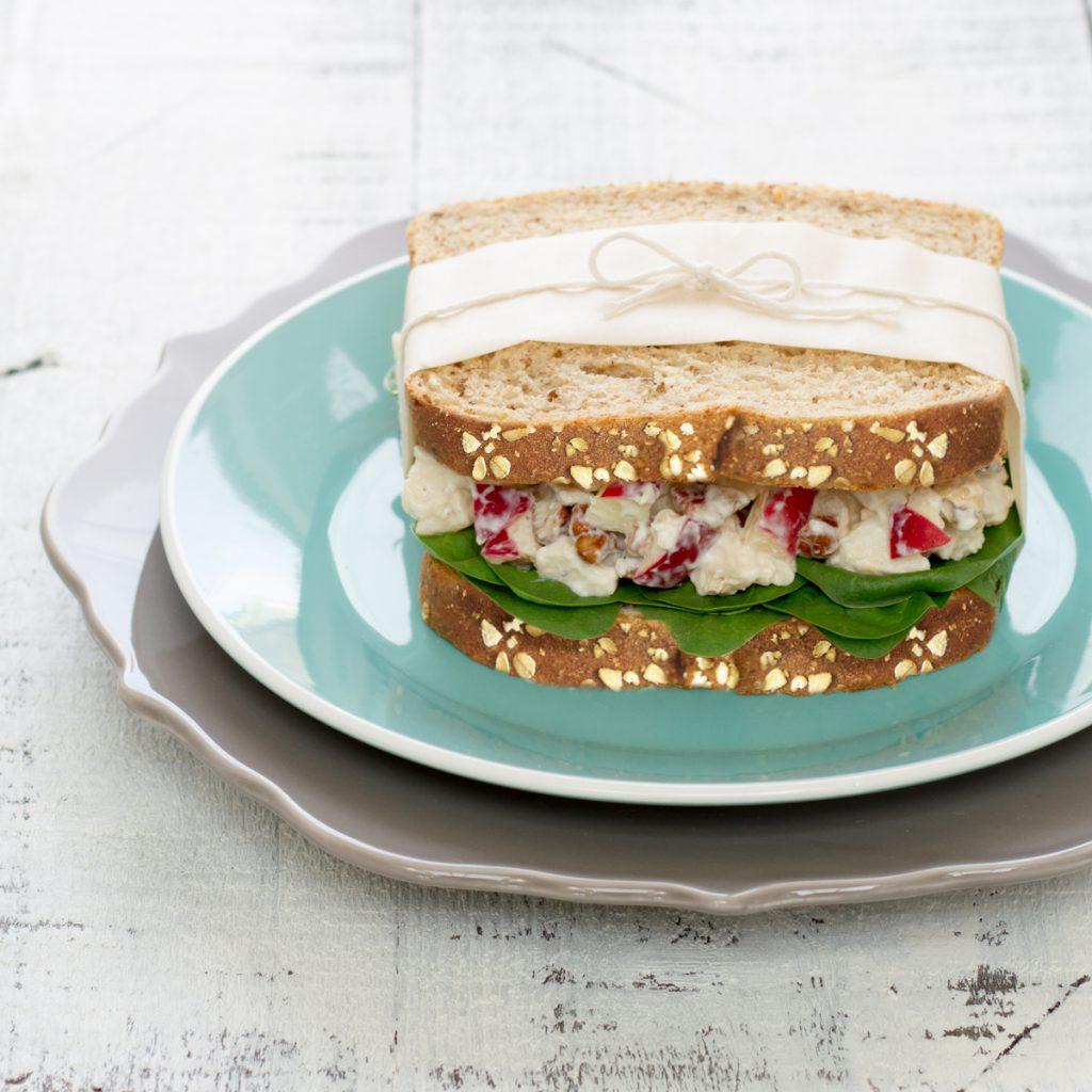 Lunch santé - Sandwich à la salade de poulet