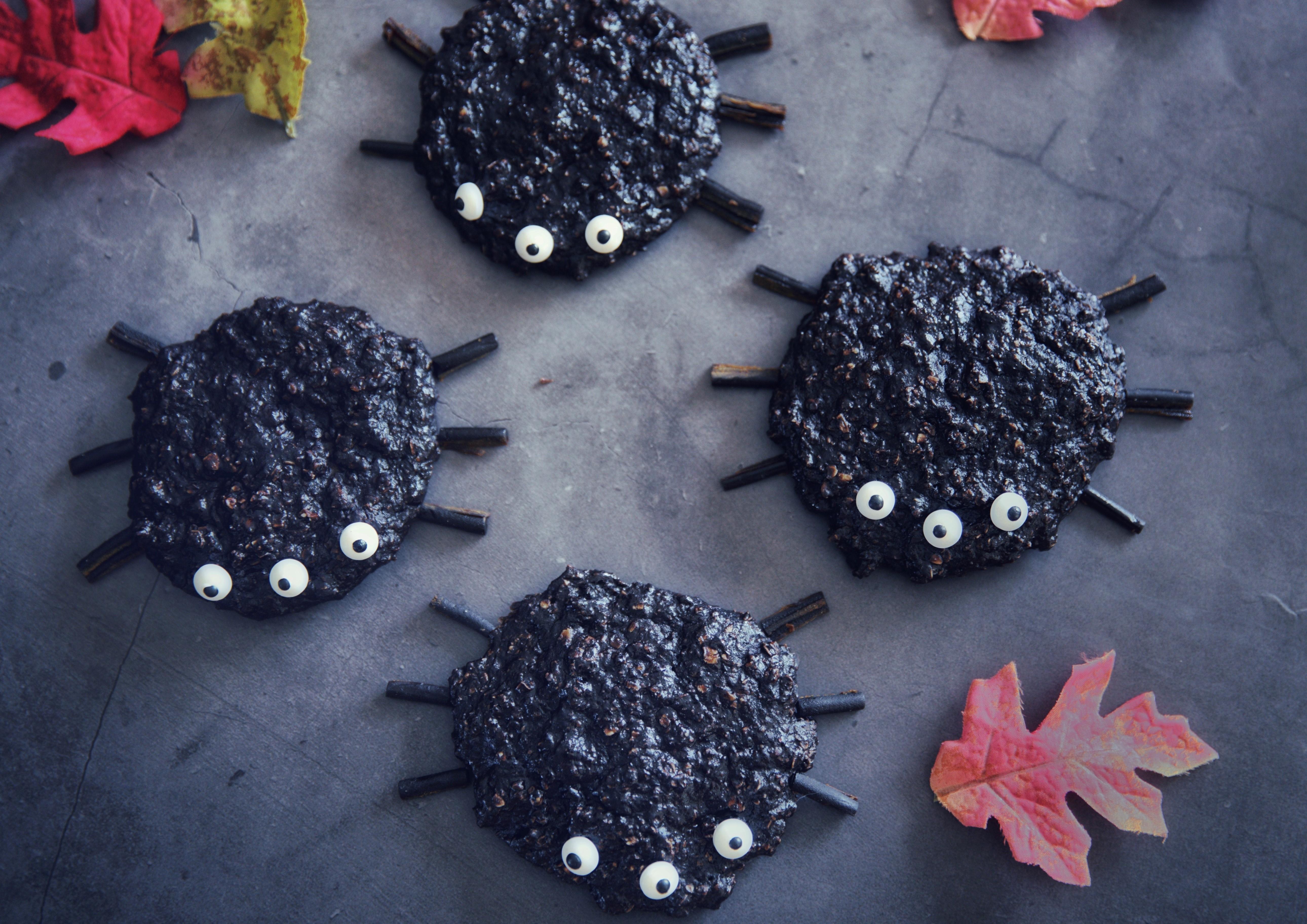 Biscuits protéinés à l'avoine et au chocolat, spécial Halloween