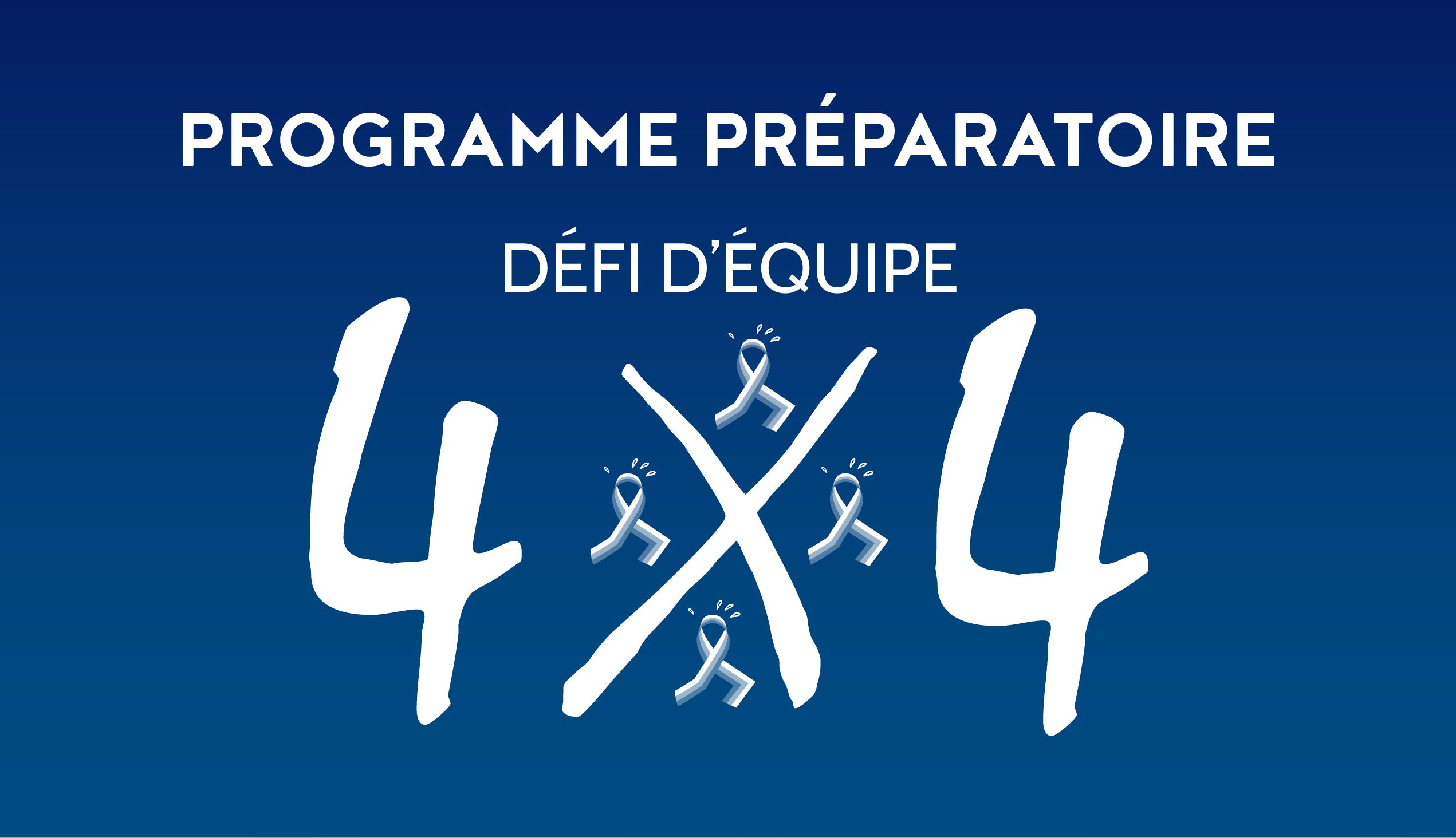 Programme d'entraînement au Défi d'équipe 4X4
