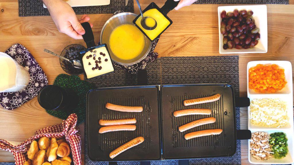 raclette déjeune