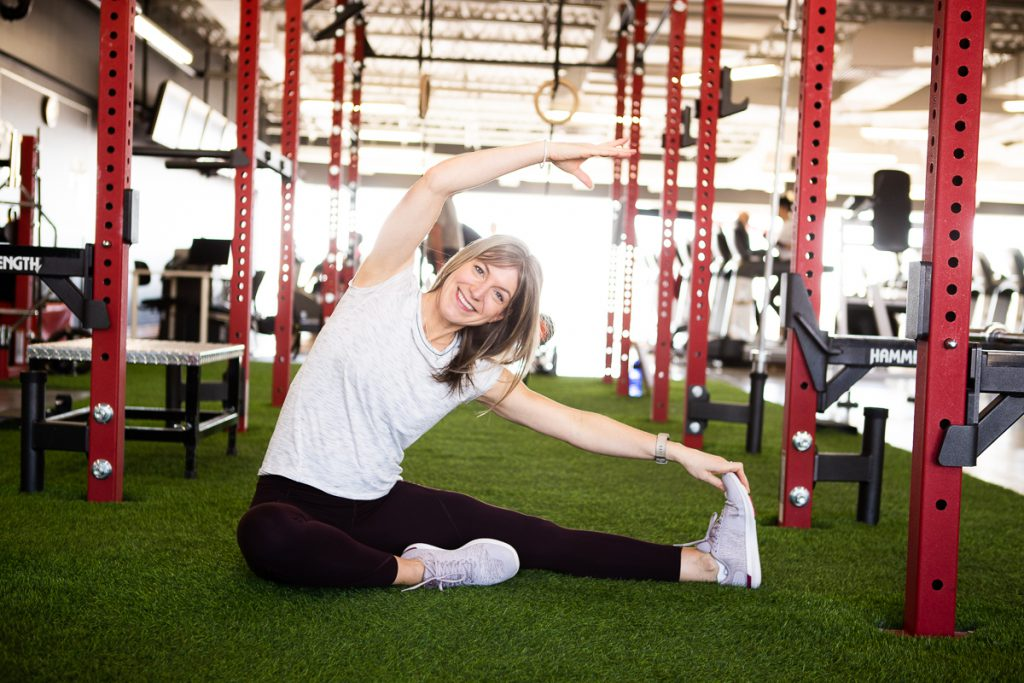 Karine Larose étirement flexibilité