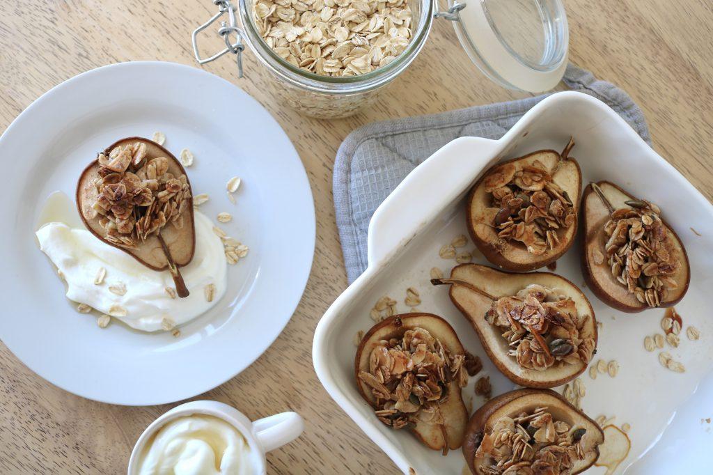 dessert a l'érable-poires-yogourt-grec